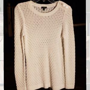 Cream knit sweater EUC